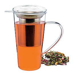 Grosche Marbella 17 oz. Glass Infuser Tea Mug