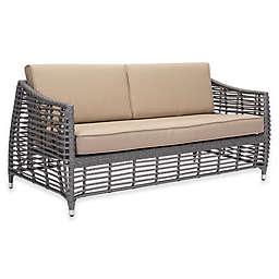 Zuo® Trek Outdoor Beach Sofa in Grey/Brown