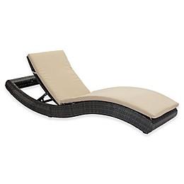 Zuo® Pamelon Outdoor Beach Chaise Lounge in Brown/Beige