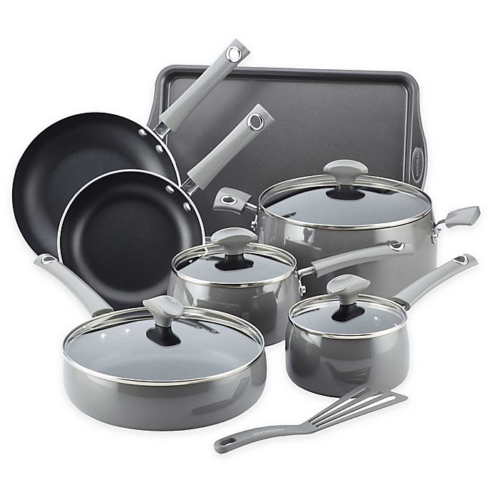 Alternate image 1 for Rachael Ray™ Cityscapes Porcelain Enamel 12-Piece Cookware Set