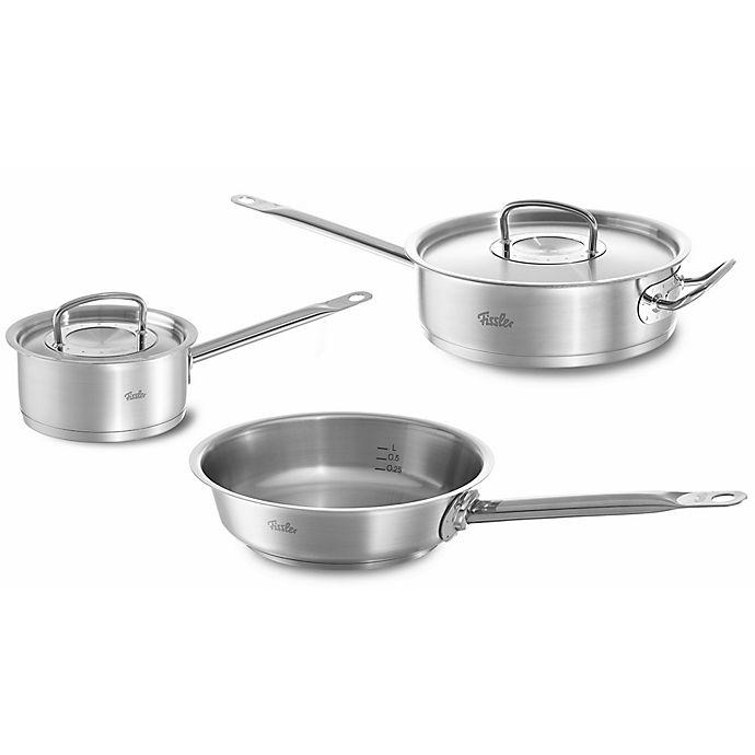 Alternate image 1 for Fissler Original Profi Stainless Steel 5-Piece Cookware Set