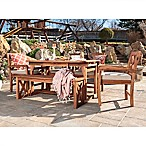 Forest Gate Aspen Acacia Wood 6-Piece Patio Dining Set with Cushions