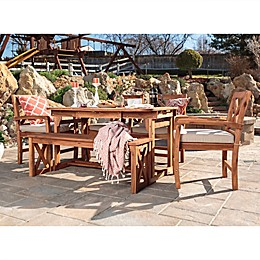 Forest Gate Aspen Acacia Wood 6-Piece Patio Dining Set with Butterfly Table