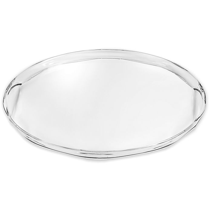 Alternate image 1 for Destination Summer Rippled Clear 20.5-Inch Indoor/Outdoor Serving Tray