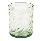 Palm Leaf Double Old Fashioned Glass in Green