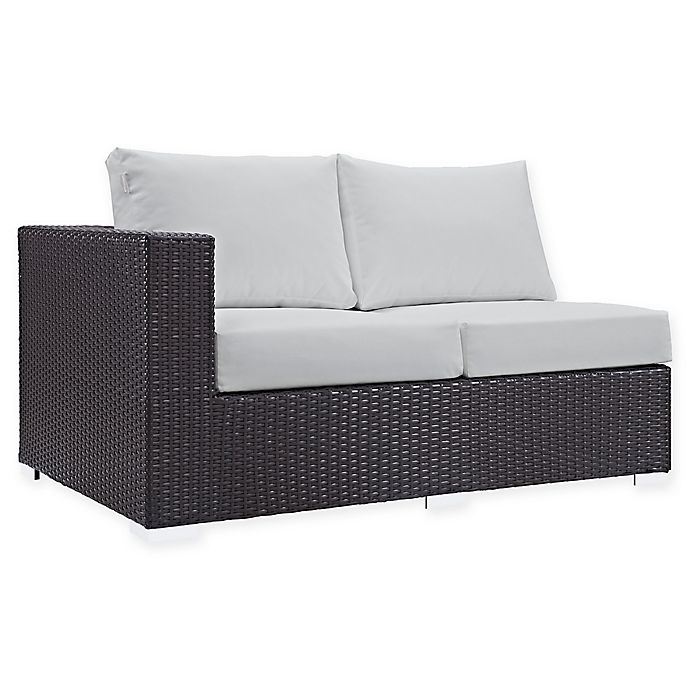 Alternate image 1 for Modway Convene Outdoor Patio Left Arm Facing Loveseat in White