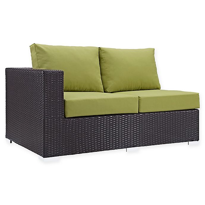 Alternate image 1 for Modway Convene Outdoor Patio Left Arm Facing Loveseat in Peridot