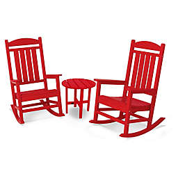 POLYWOOD® Presidential 3-Piece Rocker Set with Round Table