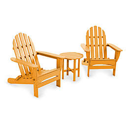 POLYWOOD® Folding Adirondack 3-Piece Set
