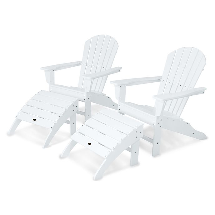 Alternate image 1 for POLYWOOD® South Beach Adirondack 4-Piece Set in White