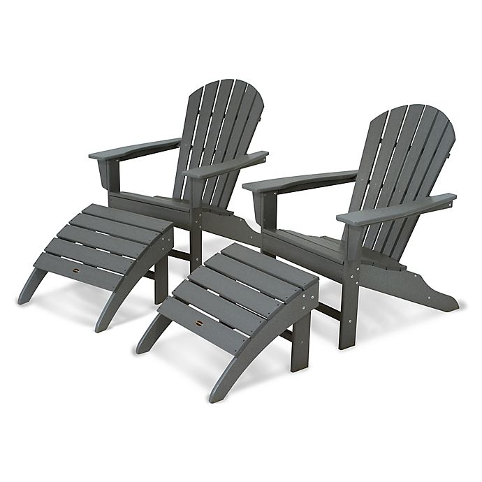 Alternate image 1 for POLYWOOD® South Beach Adirondack 4-Piece Set in Slate Grey