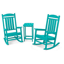 POLYWOOD® Presidential 3-Piece Rocker Set with Square Table