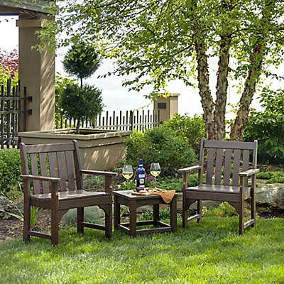 POLYWOOD® 3-Piece Vineyard Garden Chair Set