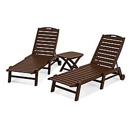 POLYWOOD® Nautical 3-Piece Chaise Set