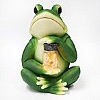 Frog with Jar Solar Lighted Garden Décor