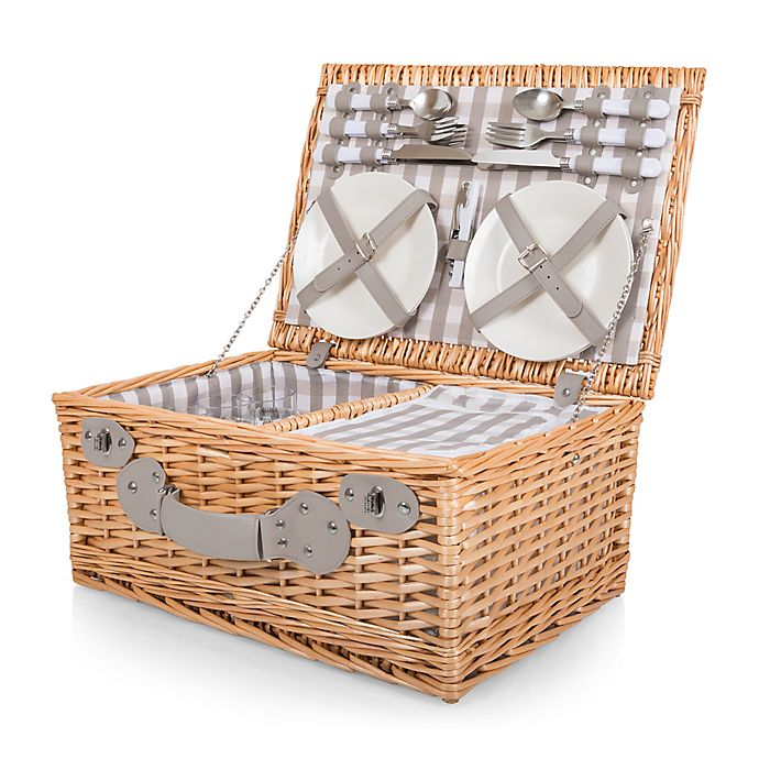 Alternate image 1 for Picnic Time® 22-Piece Insulated Picnic Basket for 4