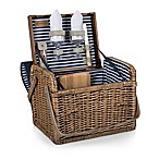 Picnic Time® Kabrio Nautical Stripe Wine Basket