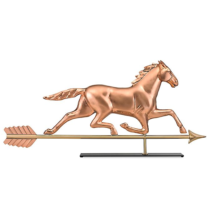 Alternate image 1 for Good Directions Large Horse Table Top Sculpture in Pure Copper