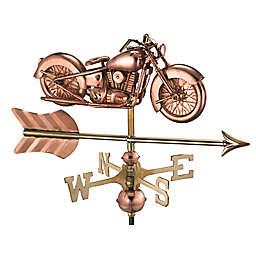 Good Directions Motorcycle with Arrow Garden Weathervane in Copper