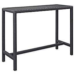 Modway Convene Large Outdoor Patio Bar Table in Espresso