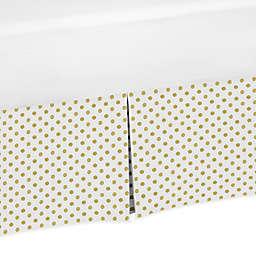 Sweet Jojo Designs Amelia Polka Dot Crib Skirt in Gold/White