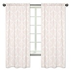 Sweet Jojo Designs Amelia 84-Inch Damask Window Panels in Pink/White (Set of 2)