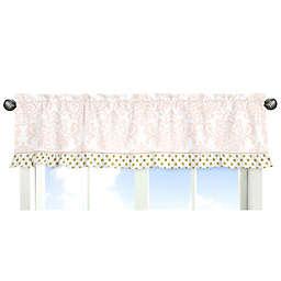 Sweet Jojo Designs Amelia Window Valance in Pink/White
