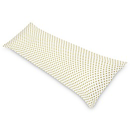 Sweet Jojo Designs Amelia Polka Dot Body Pillowcase in Gold/White