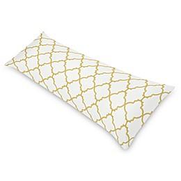 Sweet Jojo Designs Ava Body Pillowcase in White/Gold