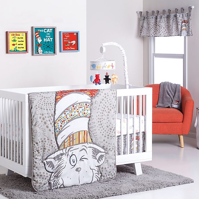Alternate image 1 for Trend Lab® Dr. Seuss™ Peek-a-Boo Cat in the Hat Crib Bedding Collection