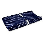 carter's® Cloud Star Velboa Changing Pad Cover in Navy/White