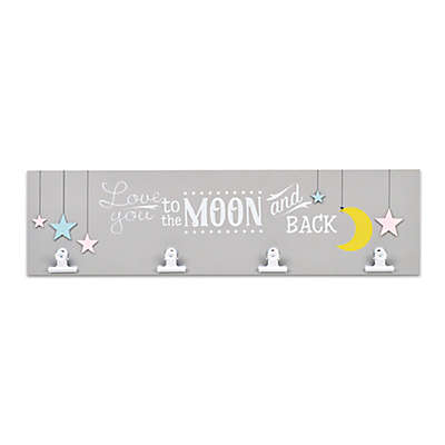 Concepts in Time Over the Moon Wall Plaque with Clips