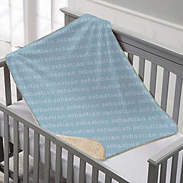 Playful Name Sherpa Baby Blanket