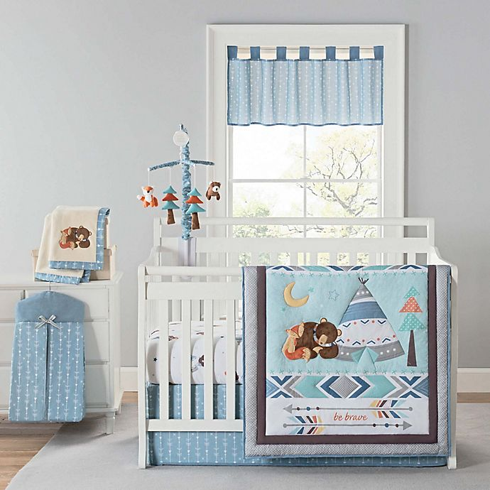 Alternate image 1 for New Country Home Laugh, Giggle & Smile Be Brave 4-Piece Crib Bedding Set