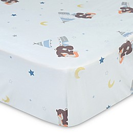 New Country Home Laugh, Giggle & Smile Be Brave Fitted Crib Sheet