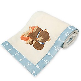 New Country Home Laugh, Giggle & Smile Be Brave Plush Blanket