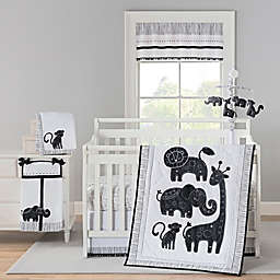 New Country Home Laugh, Giggle & Smile Silhouette Jungle Crib Bedding Collection