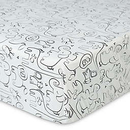 New Country Home Laugh, Giggle & Smile Silhouette Jungle Fitted Crib Sheet