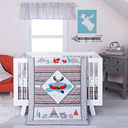 Trend Lab® Moose Canoe 4-Piece Crib Bedding Set