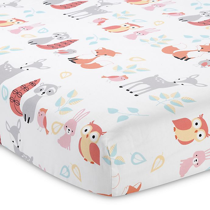 Alternate image 1 for Lambs & Ivy® Little Woodland Forest Fitted Crib Sheet
