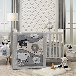 Lambs & Ivy® Little Sheep Crib Bedding Collection in Grey/White