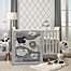 Part of the Lambs & Ivy® Little Sheep Crib Bedding Collection in Grey/White