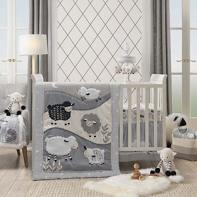 Lambs Ivy Little Sheep Crib Bedding