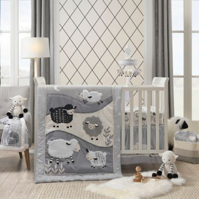 Lambs Amp Ivy 174 Little Sheep 4 Piece Crib Bedding Set Bed