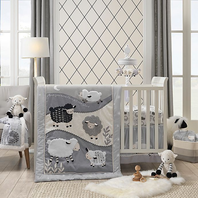 Lambs Amp Ivy 174 Little Sheep 4 Piece Crib Bedding Set Bed