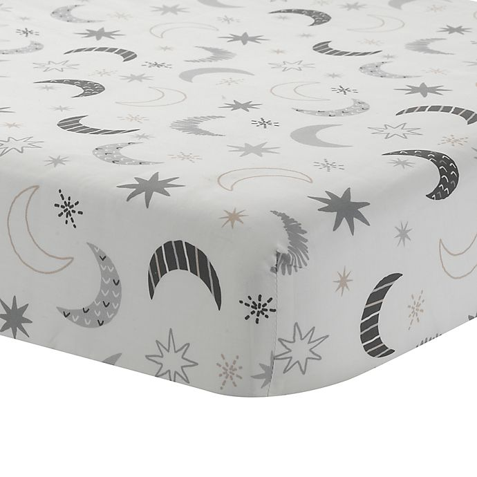 Alternate image 1 for Lambs & Ivy® Little Sheep Moon and Stars Fitted Crib Sheet