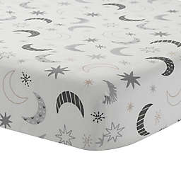 Lambs & Ivy® Little Sheep Moon and Stars Fitted Crib Sheet