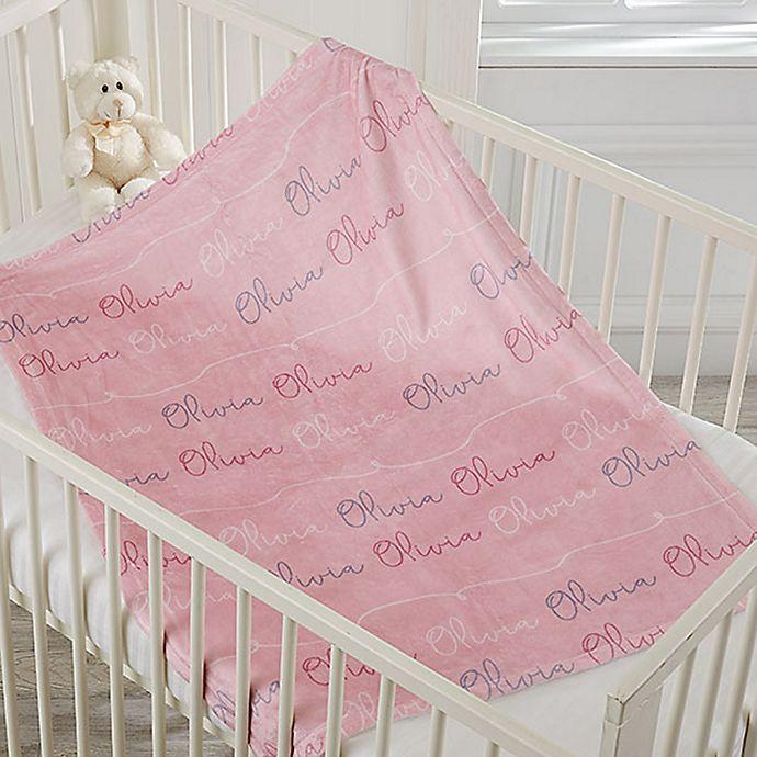Alternate image 1 for Modern Girl Name Fleece Baby Blanket