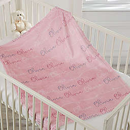 Modern Girl Name Fleece Baby Blanket
