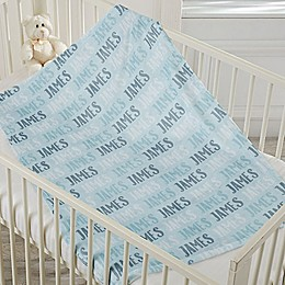 Modern Name Fleece Baby Blanket